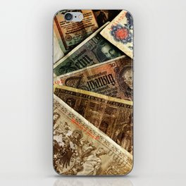 Old German money Altes Deutsches Geld iPhone Skin