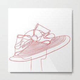 Red Hat Metal Print