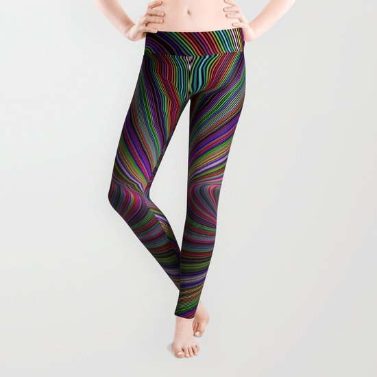 Psychedelic colors Leggings