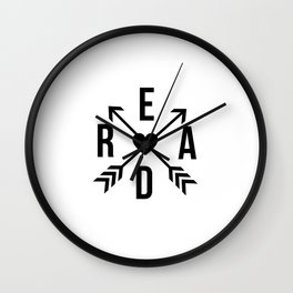 Read Crossed Arrows with Heart Wall Clock