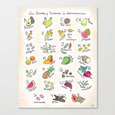 Las Frutas y Verduras de Latinoamerica Canvas Print