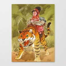 Fluo Tiger Canvas Print