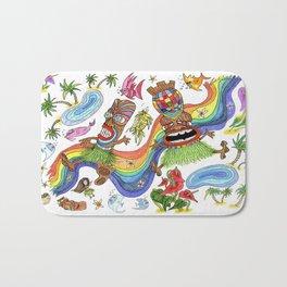 Hawaiian Tiki Play Date Bath Mat