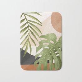 Abstract Art Tropical Leaves 21 Bath Mat