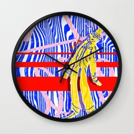 Blown Away Wall Clock