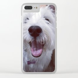 rory the westie Clear iPhone Case