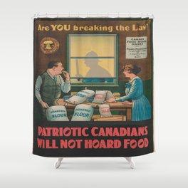 Vintage poster - Food Hoarding Shower Curtain