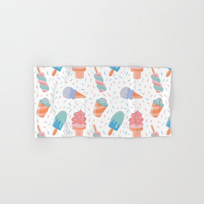 pastel ice cream pattern Hand & Bath Towel