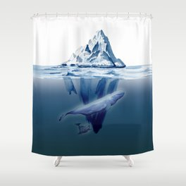 Belugas' Conversation Shower Curtain