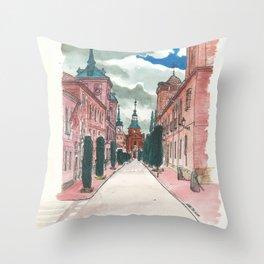 Cloudy street Throw Pillow