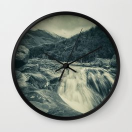 The River in the Mountains Wall Clock