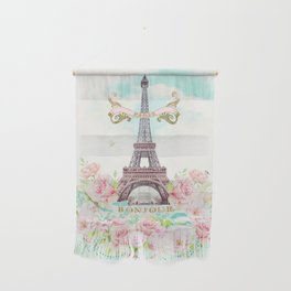 Eiffel Tower in Spring Wall Hanging