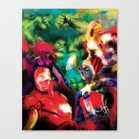 avenger Canvas Prints featuring Color Avenger! by Jesus De La Mora
