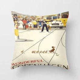Vintage poster - Copenhagen Throw Pillow