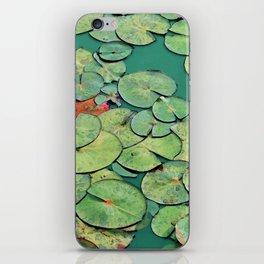 Serene Green Waterlily iPhone Skin