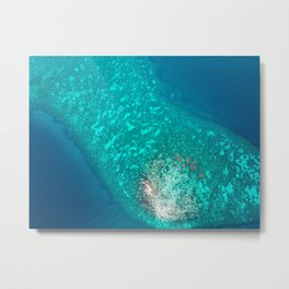 Blue waters from above Metal Print