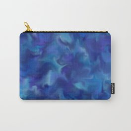 Blue Fuzz Carry-All Pouch