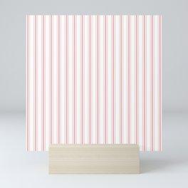 Pink Mellow Rose Mattress Ticking Wide Striped Pattern - Fall Fashion 2018 Mini Art Print