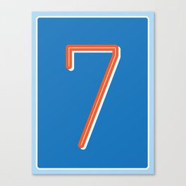 The Number Seven Canvas Print