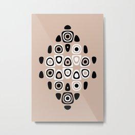 Neutral Tones Black & White Abstract Print Metal Print