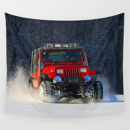 Winter offroad Wall Tapestry