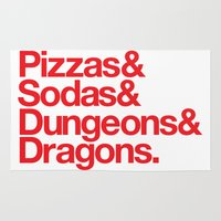 dungeons and dragons Area & Throw Rugs featuring Dungeons & Dragons & Swag by Tuff Industries
