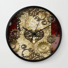 Steampunk, wonderful heart Wall Clock