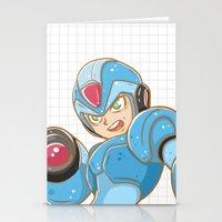 mega man Stationery Cards featuring Mega-Man by HypersVE