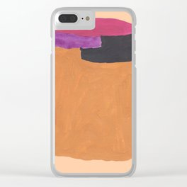 12   190330 Abstract Shapes Painting Clear iPhone Case