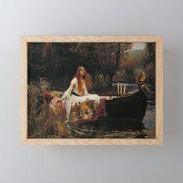John William Waterhouse - The Lady of Shalott, 1888 Framed Mini Art Print