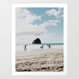 Oregon coast surf Art Print
