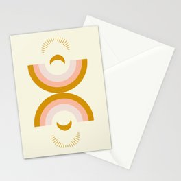 Moon rainbow Stationery Cards
