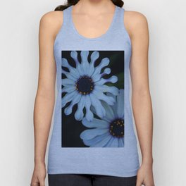 Purple and white Unisex Tank Top