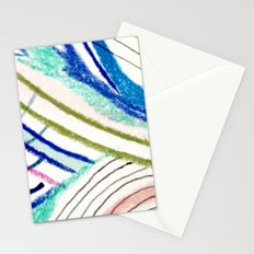Wild: a mixed media piece in a variety of bright colors Stationery Cards