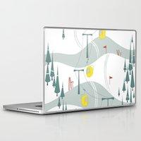 ski Laptop & iPad Skins featuring Retro Ski by Julie's Fabrics & Thingummies