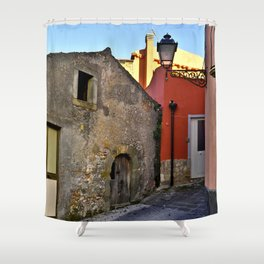 Medieval village of Sicily Shower Curtain