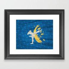 Kickin' It (An Homage To Chun-Li) Framed Art Print