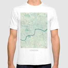 London Map Blue Vintage T-shirt