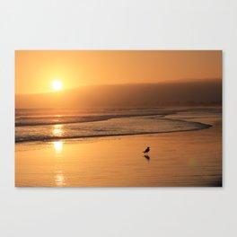 Sunset At Stinson Beach Canvas Print