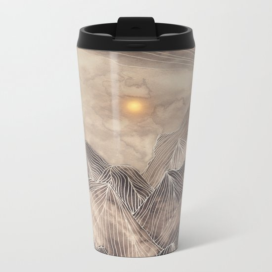 Lines in the mountains XII Metal Travel Mug