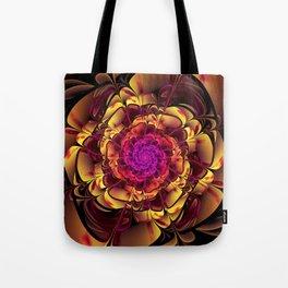 Beautiful Lantana Camara Sunrise Fractal Flowers Tote Bag