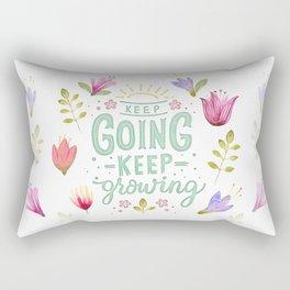 Keep Going Keep Growing Rectangular Pillow