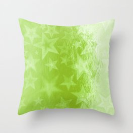 Green Starshine Throw Pillow