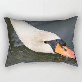 Mute Swan in Winter - Neck Skimming Rectangular Pillow
