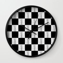 Checkerboard Pussy Wall Clock