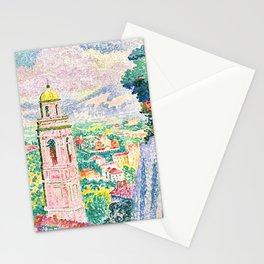 """Henri-Edmond Cross """"Pérouse, le Campanile de Santa Maria Nuova"""" Stationery Cards"""