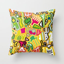 color doodle Throw Pillow
