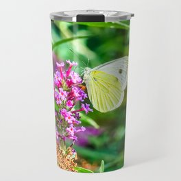 Cabbage White Butterfly Travel Mug