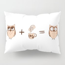 Cute owls with coffee Pillow Sham