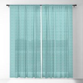 Mid Century Style Pattern Sheer Curtain